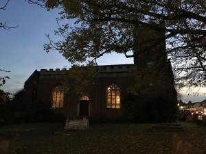 St Martins Church at night